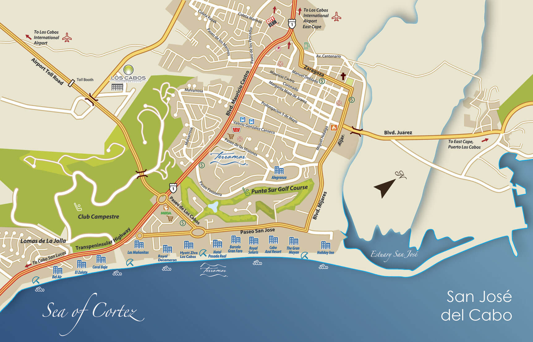 Map San Jose del Cabo BookCabo